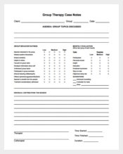 Group Therapy Case Notes Example PDF Template Free
