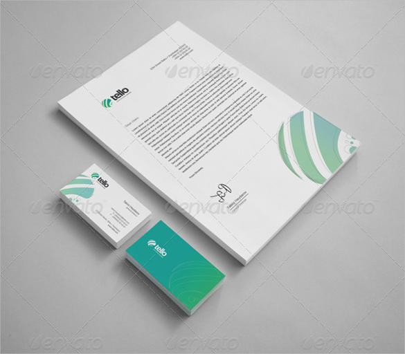 tello corporate identity custom letterhead template