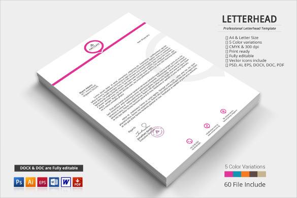 custom letterhead format