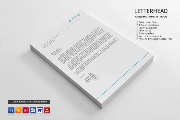 corporate custom printable letterhead download