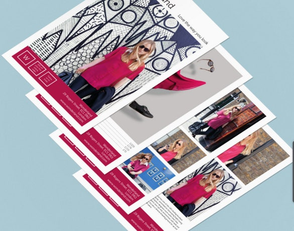 fashion frame half page flyer template