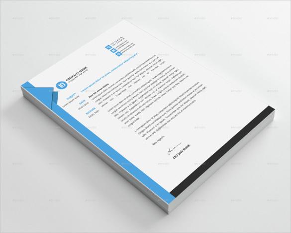 letterhead custom template