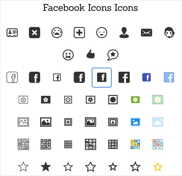 25 facebook icons free psd ai vector eps format download free