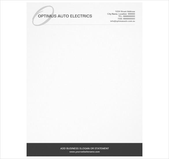 modern elegant monogram custom letterhead download