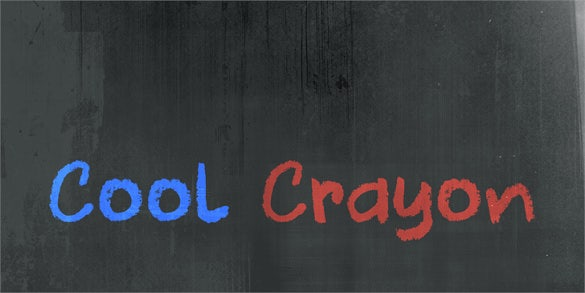 free dk cool crayon lettering font
