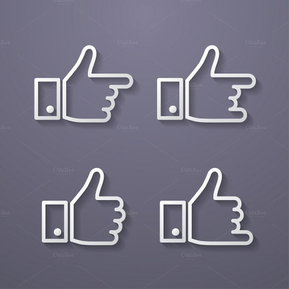 likes in facebook with icons template