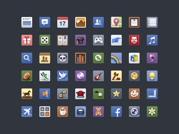 all facebook icons