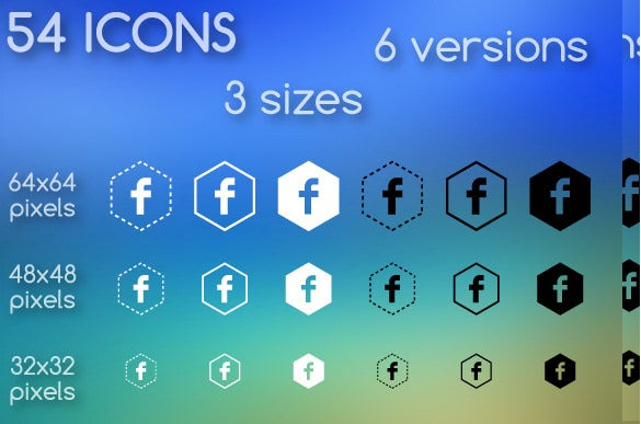 group of facebook icons