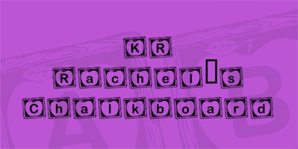 kr rachels chalkboard alphabet font download
