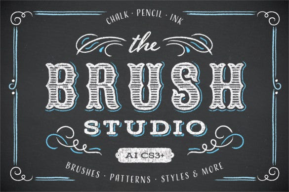 the brush studio fancy chalkboard font