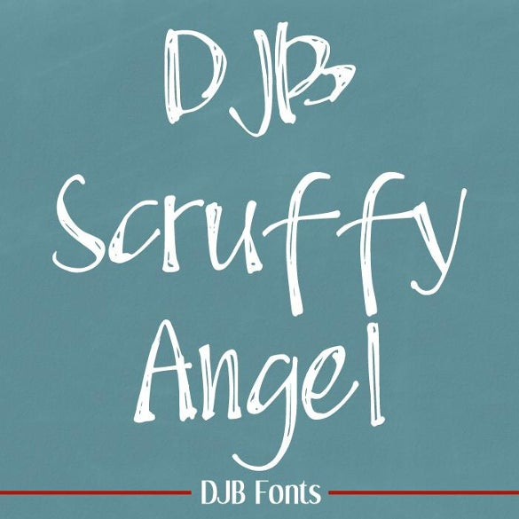 cute djb scruffy angel chalk font