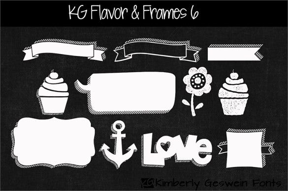 kg flavor and frames six banner font download