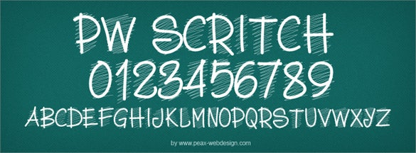 pwscritch simple chalkboard font