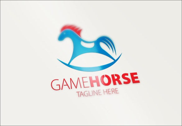 horse game cool logo template