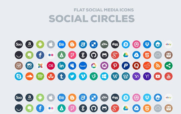 social icons with facebook icon1