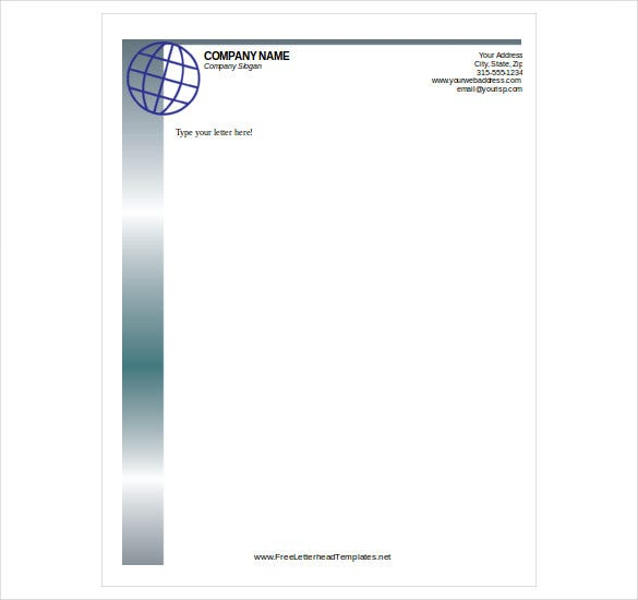Free letterhead template 14 free word pdf format download free free letterhead template download spiritdancerdesigns Images
