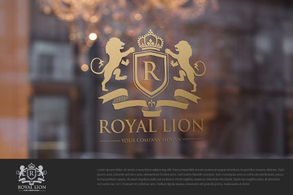 royal lions cool logo template