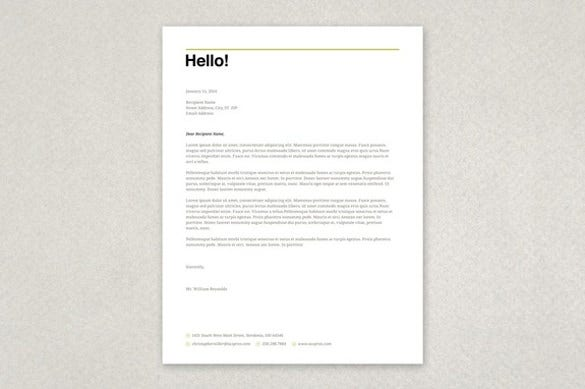 word letterhead template download