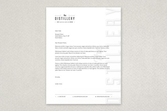 upscale bar letterhead template downoad