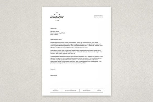 Dynamic Hotel Free Letterhead Template Download  Best Free Letterhead Templates