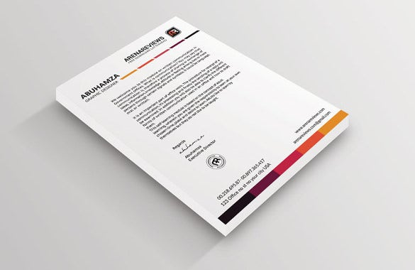white letterhead template download