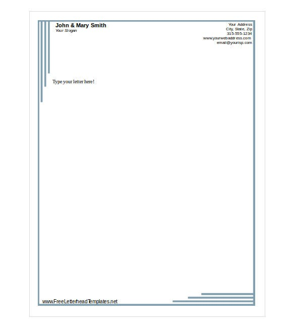 Free letterhead template 14 free word pdf format for Free letterhead template word