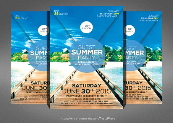 amazing summer party flyer template download