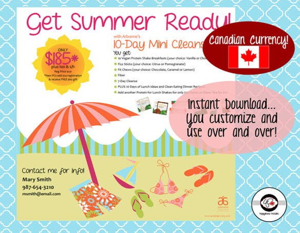 clean eating dinner recipes summer party flyer template