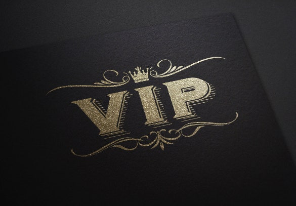 vip logo template
