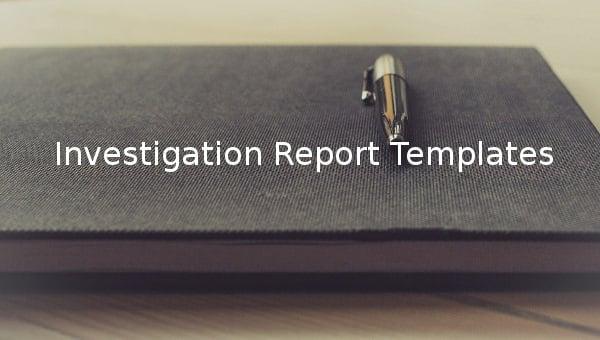 investigation report templates1