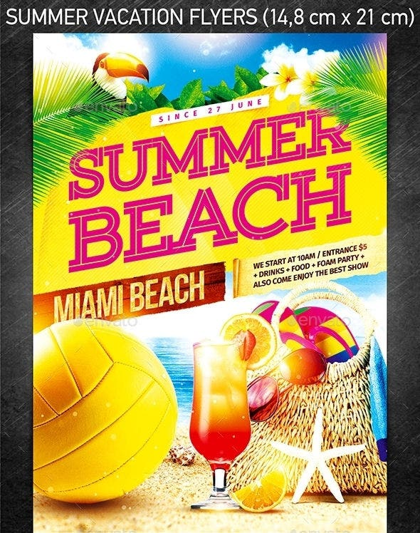 celebrating cool summer party flyer template download
