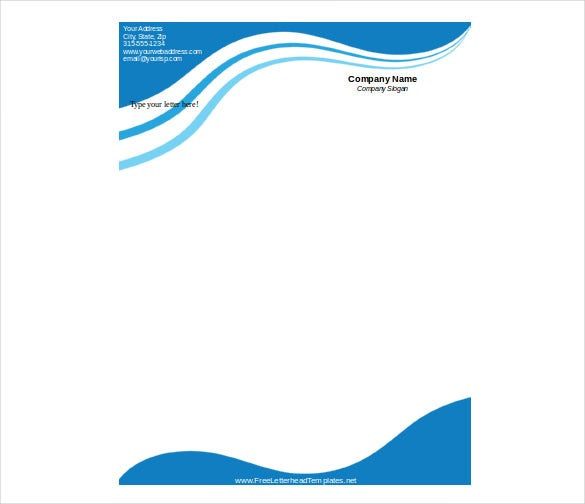 business letterhead waves template