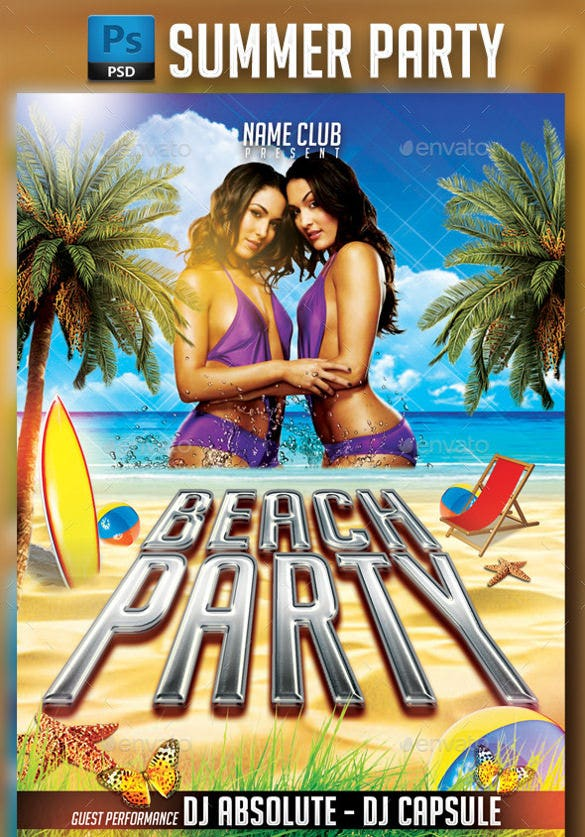 bella twins hot summer party flyer template download