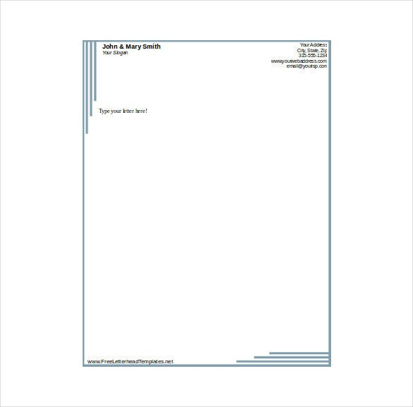 14 free letterhead templates free sample example format download formal business letterhead template download accmission