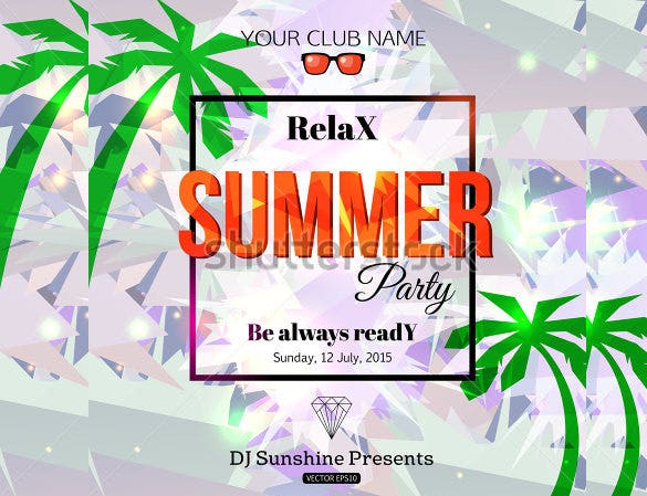 relaxing summer flyer template download