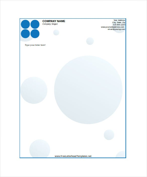 business letterhead with dots template