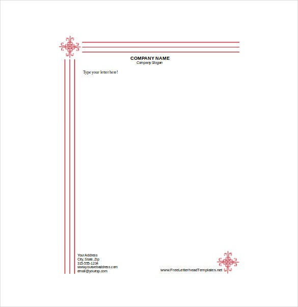 business letterhead with engraved look download