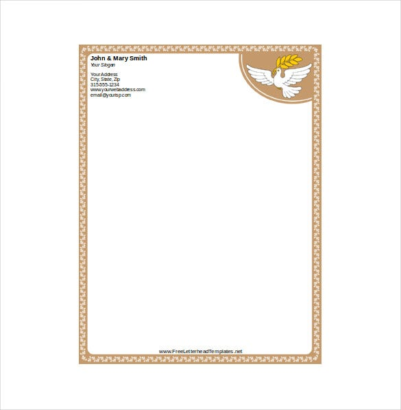 dove letterhead download