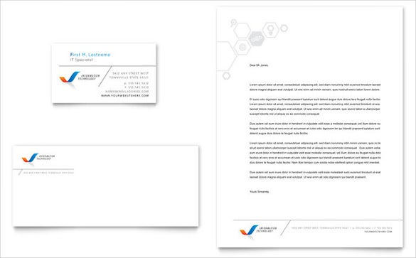 ready made letterhead design template download