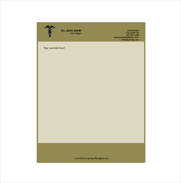 doctor business letterhead template download