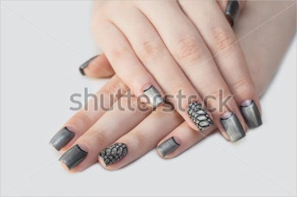 modern 3d nail design template