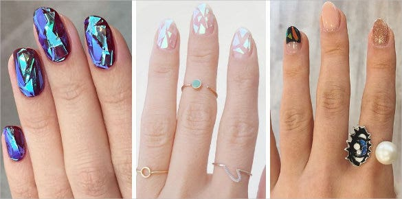 3d glass nail art design template