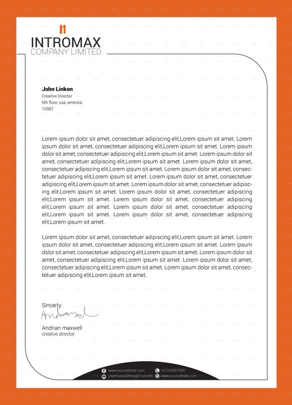 Company Corporate Letterhead Vector EPS Download  Company Letterhead Samples