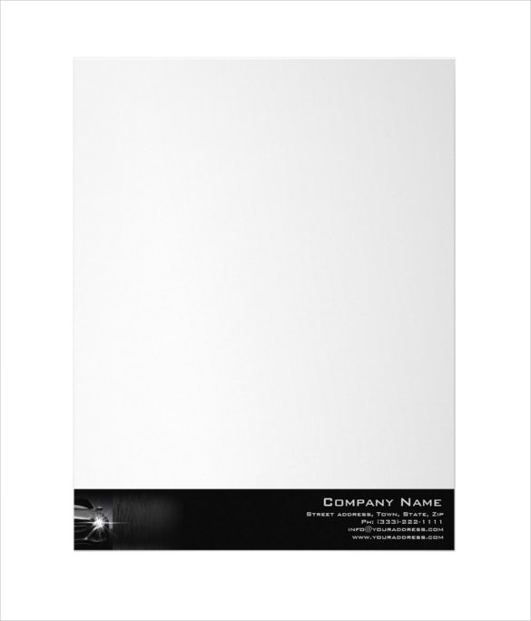 black car automotive company border letterhead