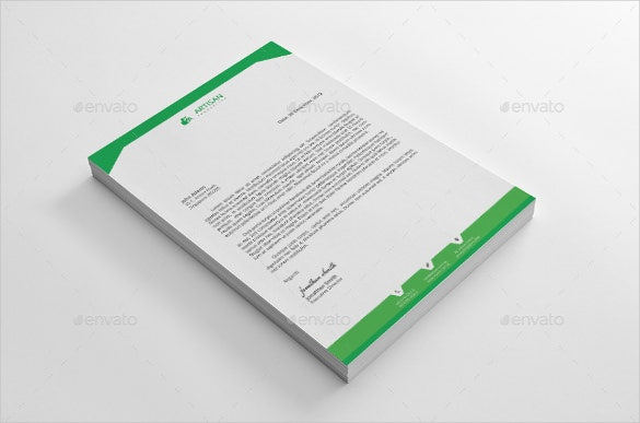 corporate company letterhead design printable template0a