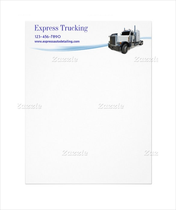 trucking company letterhead template download