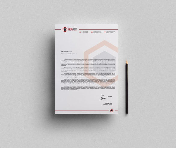 corporate letterhead ms word template download0a