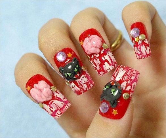 3d nail design templates