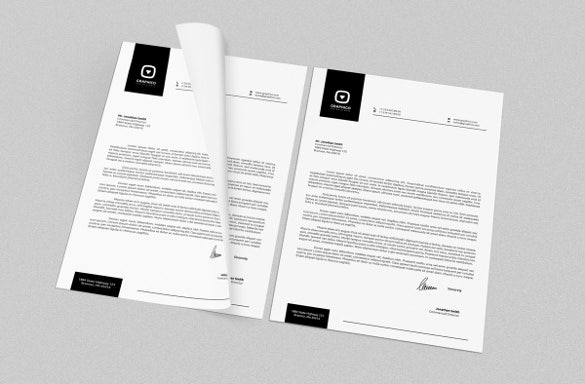 corporate letterhead for company