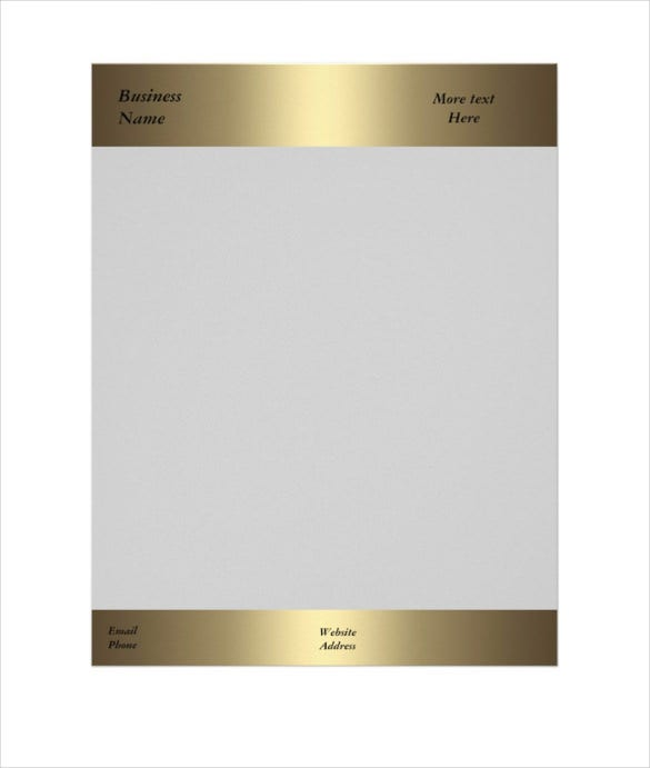letterhead business company office bronze gold template download